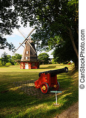 Kastellet - Windmill and Canon at Kastellet