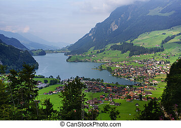 Panoramic view of Grindelwald Village, Switzerland