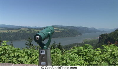 Scenic View on the Columbia River - Scenic view and...