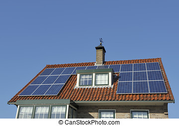 Solar Panels at red roof