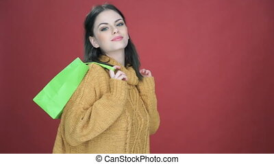 Young woman enjoying a days shopping