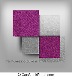 Purple Squares - Modern element Purple empty squares on the...