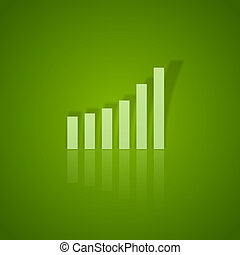 Green Up - Green graph up. Vector business symbol without...