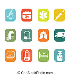 Medical icons - A vector illustration of medical icon sets