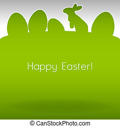 Easter Background - Easter background. Green page with...