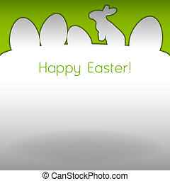 Easter Background - Easter background. White page with...