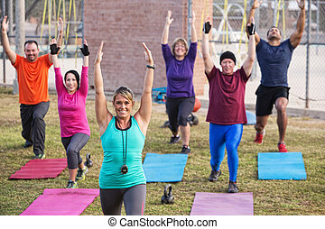 Active Adults Exercising