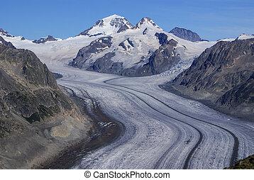 alpi, ghiacciaio,  aletch, più lungo