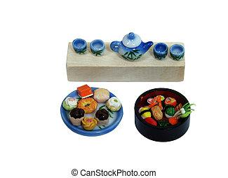 sushi, tè, Torte