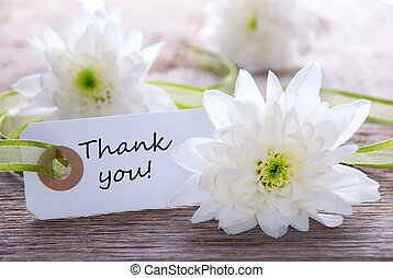 Label with Thank you - White Label with Thank You and white...