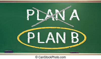 Plan B on a chalk board