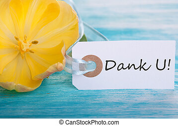 Banner with Dank U - Banner with the Dutch Words Dank U...