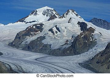 Aletch, più lungo, ghiacciaio, alpi