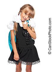 Schoolgirl in uniform