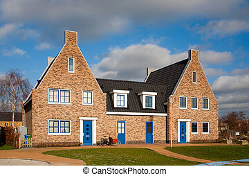 New houses - New houses in Vathorst, Amersfoort, the...