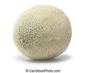 Cantaloupe - cantaloupe over white background