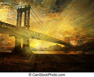 NYC Bridge Sun