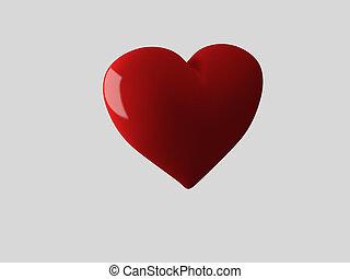 Red heart, 3d Illustration