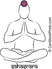 Sahasrara yoga chakra