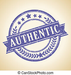 Authentic vintage stamp - Authentic vintage vector stamp