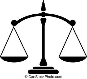 Balance icon isolated on white