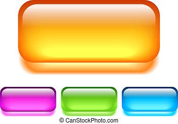 Glass vector button