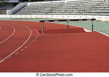 parte, obstáculo, carrera, Al aire libre, estadio
