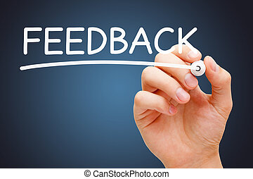 Feedback White Marker - Hand writing Feedback with white...