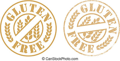 Gluten free rubber stamp ink - Vector illustration of Gluten...