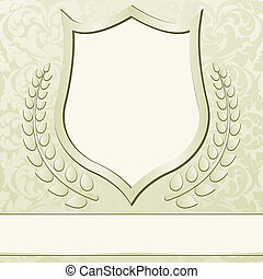 beige background with vintage frame ornaments