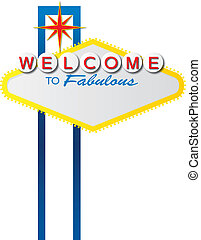 Blank Vegas Sign - The iconic Las Vegas welcome sign, which...