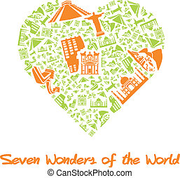 Seven Wonders of the World in Heart