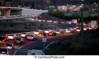 Traffic - Rush hour slow traffic on the beltway around...