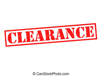 CLEARANCE red Rubber Stamp over a white background.