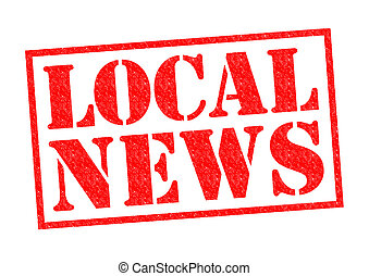 LOCAL NEWS red Rubber Stamp over a white background.