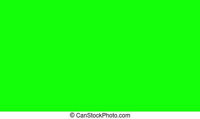 Blue Bubbles wipe green screen