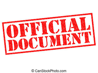 OFFICIAL DOCUMENT red Rubber Stamp over a white background