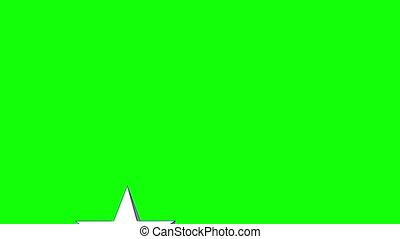 Star wipe green screen