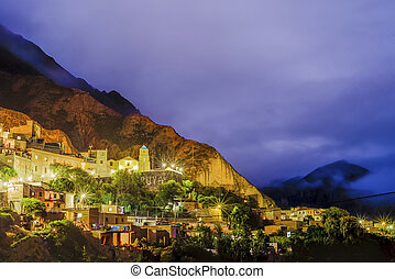 Iruya in Salta Province of northwestern Argentina - Night...