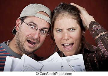 Couple with too many bills