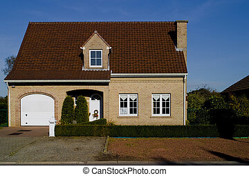 A perfect house in Belgium - A stock photograph of a perfect...