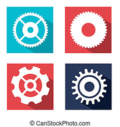gears design over  background vector illustration