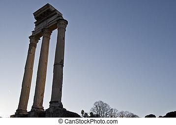 Forum Romanum - part of the famous Forum Romanum in the...