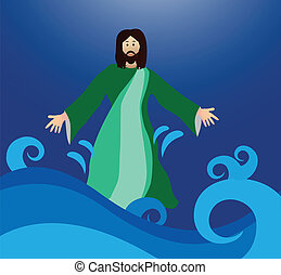 Jesus walking on the water - Jesus Christ walks on water