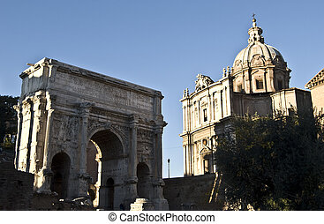 Forum Romanum - part of the famous Forum Romanum in the...