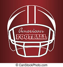 american football design over red background vector...