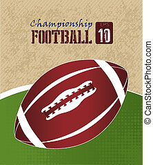 american football design over green background vector...