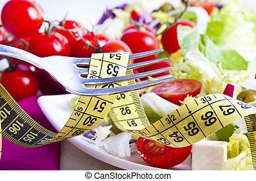balanced Diet - Tape bottom food vegetable healthy diet