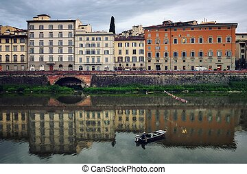 View of old Houses of Florence