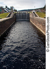 Caledonian locks - Caledonian channel in Fort Augustus,...